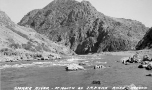 Mouth of the Imnaha at Snake River