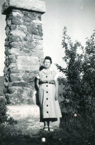 Arlene at Old Chief Joseph's grave near Wallowa Lake in Joseph, Oregon