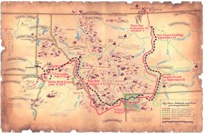Flight of the Nez Perce Map