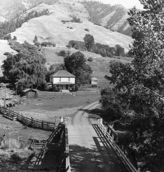 The Morgan house in the 1930's.